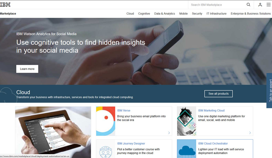 IBM.COM Cloud Marketplace