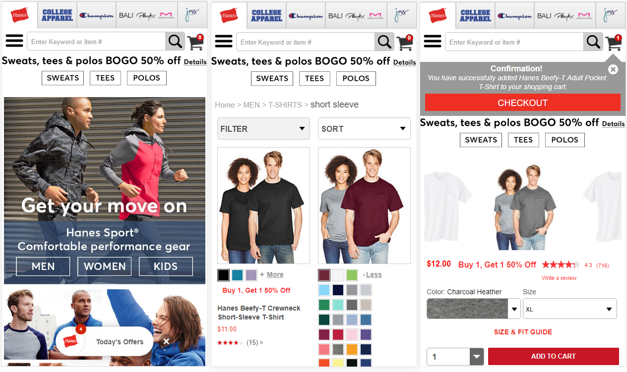 IO helps Hanes delivery responsive mobile redesign